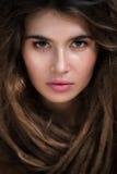 与dreadlock的女性面孔 免版税库存照片
