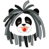 与dreadlocks的熊猫 免版税库存图片