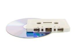 与dvd的盒式磁带 图库摄影