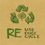 与Eco标志的被回收的纸 免版税库存图片