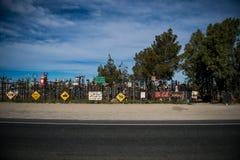 与Elmer's瓶树大农场的最佳的图象路线的66 库存照片