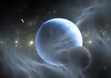 与Exoplanet的空间背景 皇族释放例证