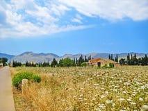 与finca的农村风景 免版税图库摄影