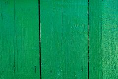 与flawes的被绘的绿色老木铺板背景 库存照片