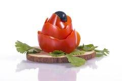 与flowe的蕃茄 免版税库存图片