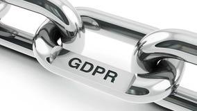 与GDPR链接的链子 皇族释放例证