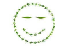 与gooks的微笑的面孔由大麻制成离开 免版税库存照片