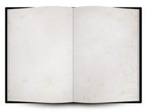 与grunge背景纹理的被开张的书或菜单 库存照片