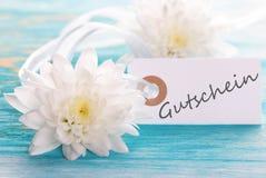 与Gutschein的标签 免版税库存照片