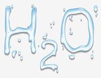 与H2O形状的水 库存照片