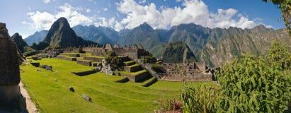 与Huayna Picchu的Machu picchu在背景中 库存照片