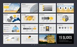 与infographic元素的介绍模板 库存照片