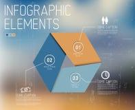 与Infographic的抽象形状 免版税库存图片