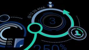 与infographics的元素的公司背景与阿尔法通道的 皇族释放例证