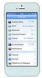 与iOS 6的IPhone 5 免版税库存照片