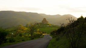 与Jvari修道院的风景 免版税库存图片