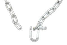 链子和carabiner 库存图片