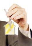 与keychain的关键字以房子的形式 免版税图库摄影