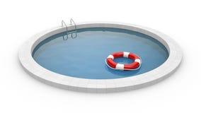 与lifebuoy的水池 向量例证
