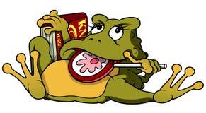与Lollypop的青蛙 库存图片