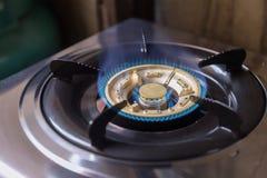 与LPG的煤气炉 库存照片