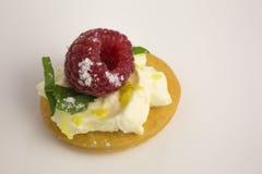 与mascarpone和莓的开胃菜 库存图片