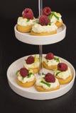 与mascarpone和莓的开胃菜 免版税库存照片