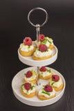与mascarpone和莓的开胃菜 图库摄影