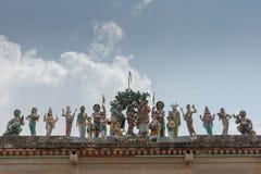 与Meenakshi雕象的婚礼希瓦在科泰尤尔 库存图片