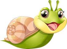 与MOBIL家的蜗牛 免版税库存照片