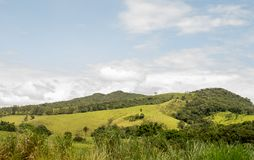 与montains的一个风景 库存照片