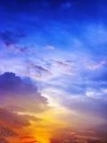 与multy颜色的Colorfull日落 库存图片