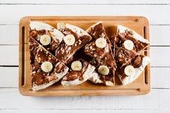 与nutella的点心或早餐薄饼 库存照片