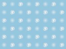 与om标志的无缝的样式 库存图片
