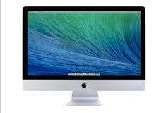 与OS x持异议者的新的iMac 27 免版税库存照片