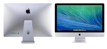 与OS x持异议者的新的iMac 27 库存照片