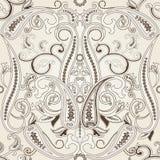 与paisleyTraditional东方金银细丝工的装饰品的无缝的样式 库存例证