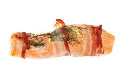 与pancetta的海鳟 免版税库存照片