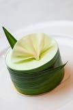 与pandan奶油的Pandan蛋糕 库存图片