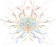 与pixelated兰花瓣纹理的白色抽象背景 免版税图库摄影