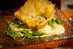 与porcini和巴马干酪削片的开胃菜 免版税图库摄影
