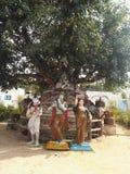 与radhe krishna的阁下shiva 免版税库存图片