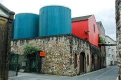 与redn门的老工厂入口 库存图片