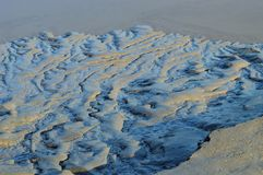 与reens的泥在河usk的银行,纽波特, gwent,威尔士,英国 免版税库存照片