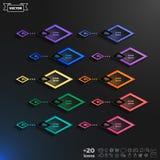 与rhomb的传染媒介infographic设计名单 免版税库存照片