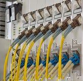 与SC/LC连接器的纤维光学 库存照片