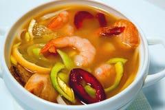 与seafood1的汤 免版税图库摄影