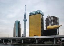 与skytree塔-东京,日本的东京地平线 免版税库存照片