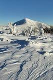 与Snezka的冬天结构 免版税库存图片