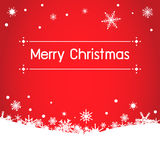 与snow.vector的圣诞节背景 免版税图库摄影
